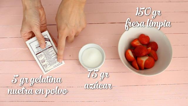 Receta Tarta Mousse de fresa o frutilla sin horno