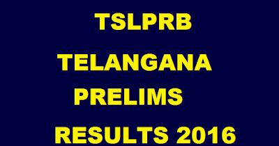 Telangana Police Constable Prelims Exam Results 2016 Marks tslprb.in