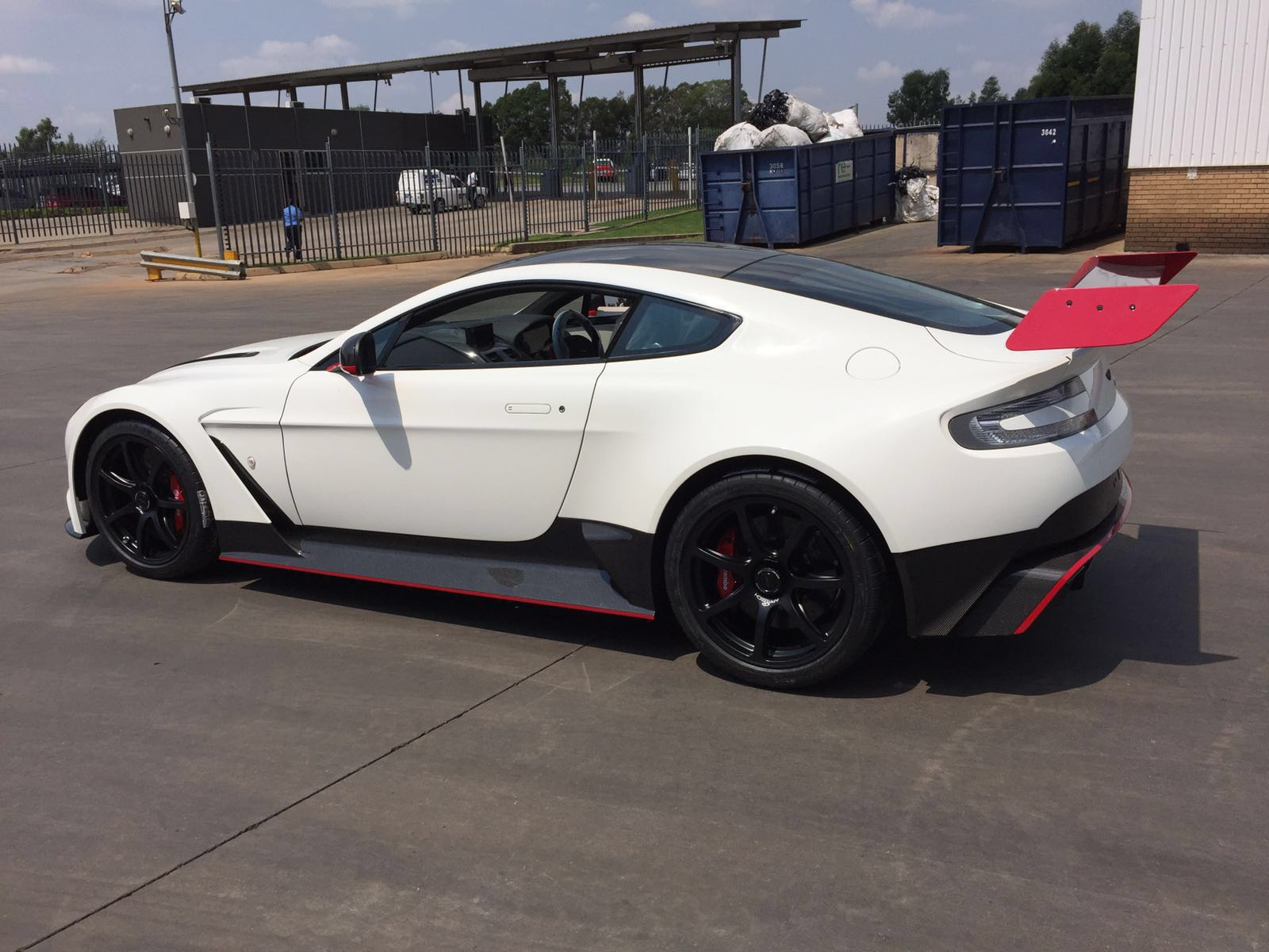 White And Red Aston Martin Vantage Gt12 Arrives In South Africa