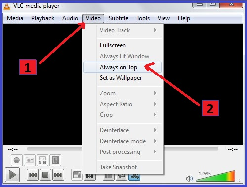 VLC Media Player hidden useful features keepk always on top