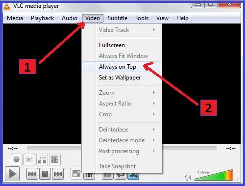 VLC Media Player hidden useful features keepk always on top