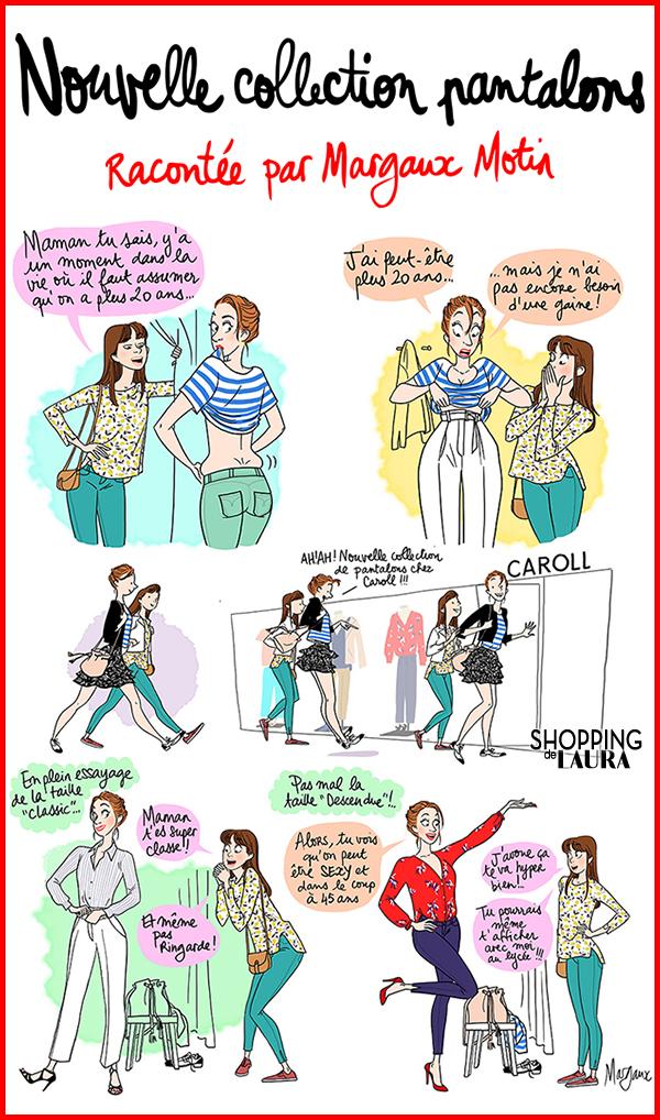 Pantalons femme revisités par CAROLL en BD