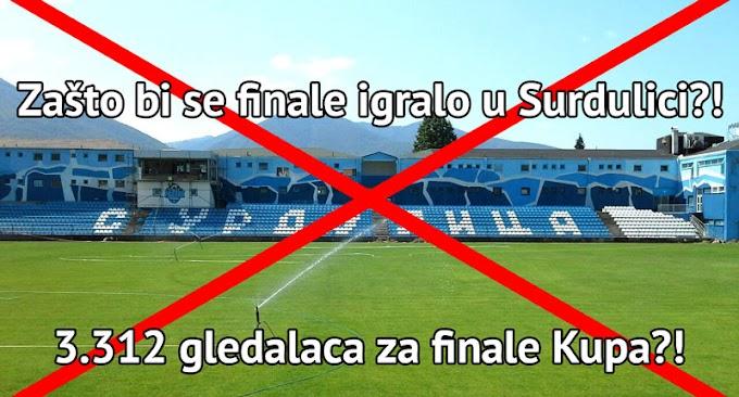 Partizan ne želi da igra u Surdulici!