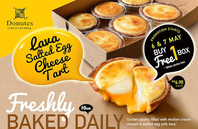 Donutes Coffee & Cake Baking Malaysia Lava Salted Egg Cheese Tart