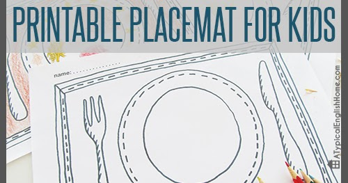 Soft image within printable placemat