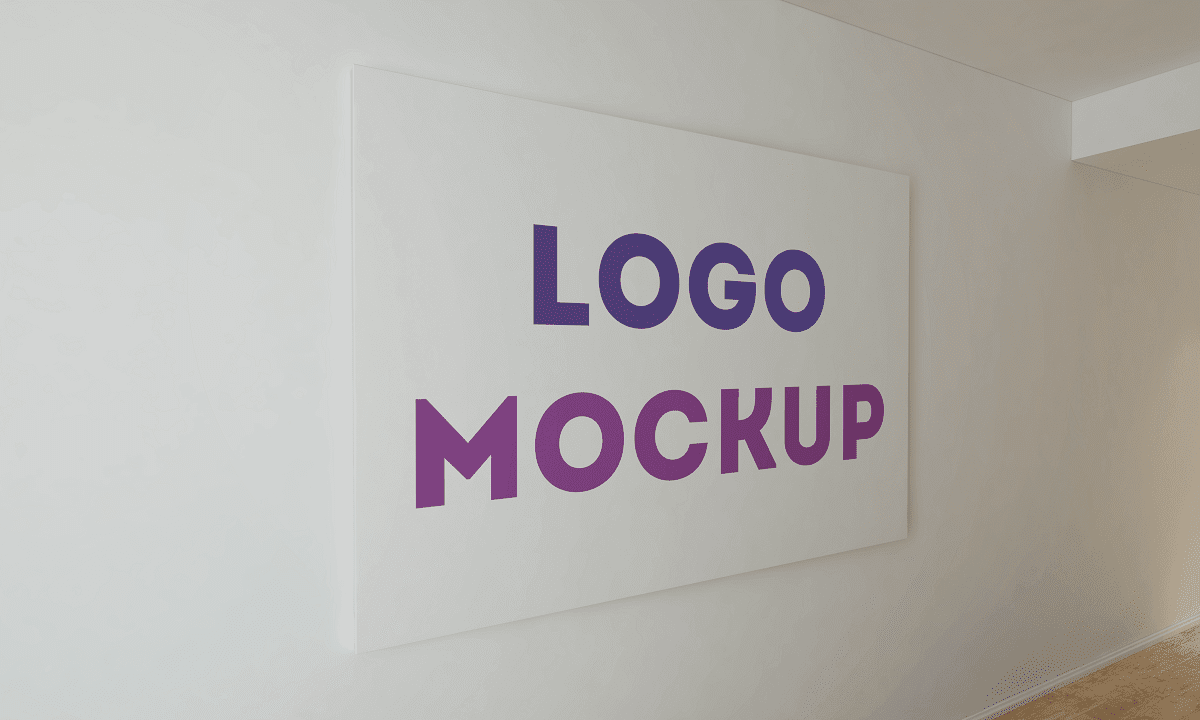 Download 3D Logo Mockup PSD - Office Wall Logo MockUp