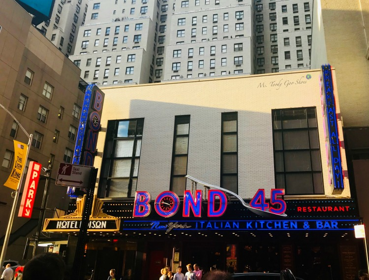 Bond 45 - One of  50 Places To Eat Near Tiimes Square - From Cheap To Chic! | Ms. Toody Goo Shoes