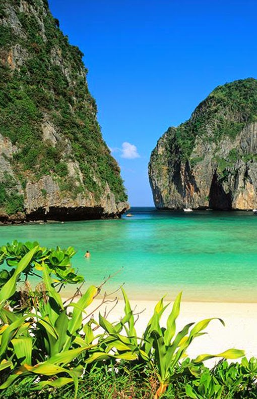 Ko Phi Phi Don  pronounced  is the largest of the Phi Phi Islands, in Thailand. The islands are administratively part of Krabi province. It is the only island in the group with permanent inhabitants.