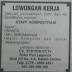 Staff Administrasi CV. Station CCTV untuk SMK sederajat - Info Loker Rabu 05 OKtober 2016