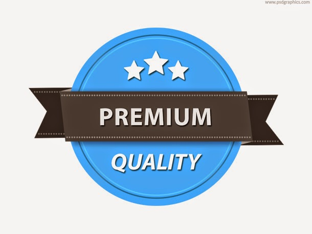 Quality Badge Template PSD