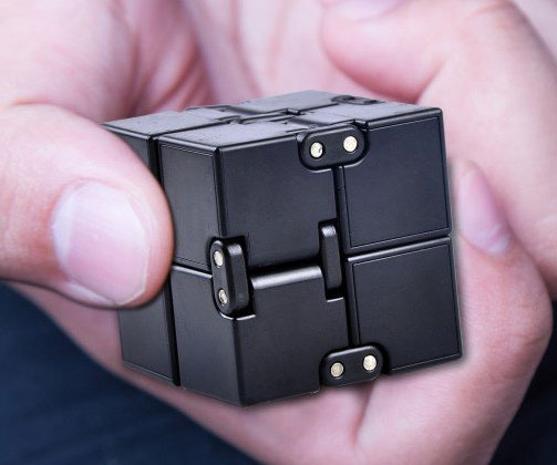 Help relieve anxiety and stress during the workday by keeping your hands busy with the infinity cube fidget toy. This plastic cube comes outfitted with small hinges that let you effortlessly alter the shape of the cube single-handedly.