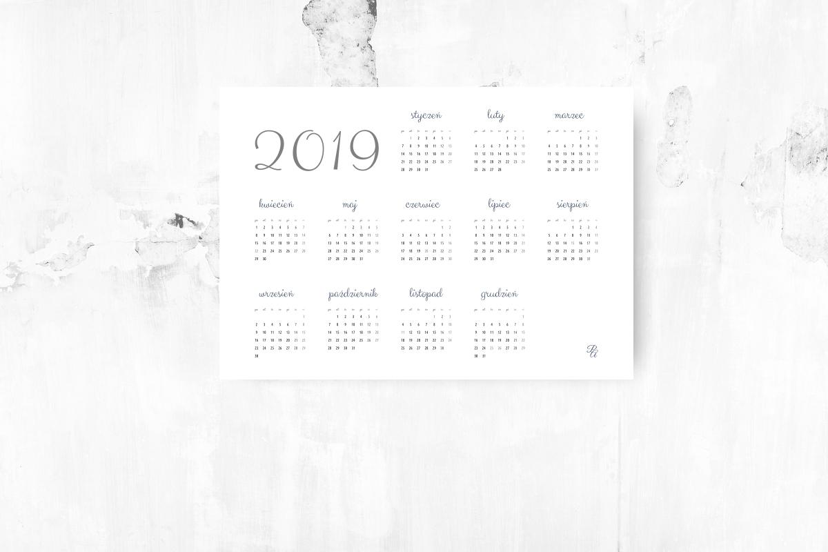 kalendarz do pobrania 2019