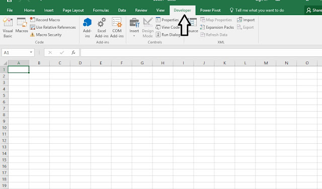 Finally Show Developer Tab in Excel 2016