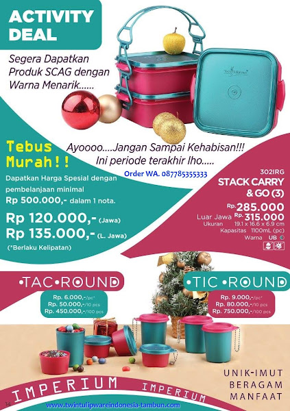 Tebus Murah Desember 2017, SCAG, Stack Carry Go, Tic Tac Round