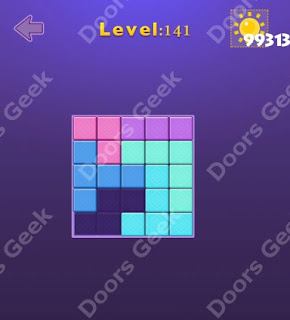Cheats, Solutions, Walkthrough for Move Blocks Easy Level 141