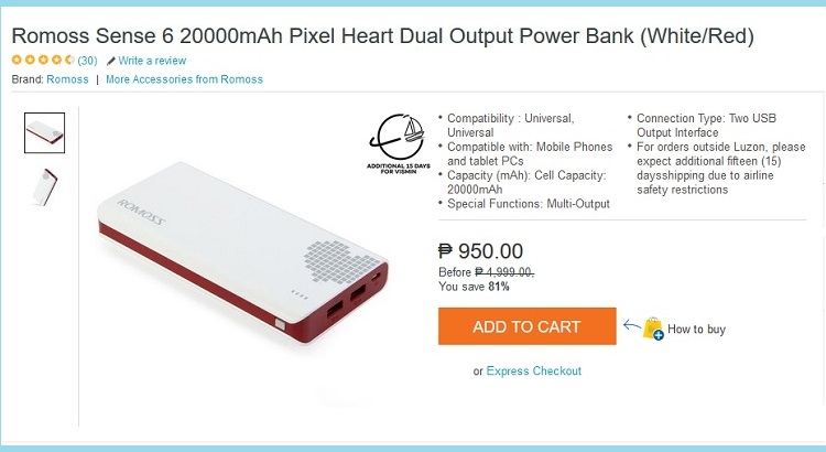 The Budget Fashion Seeker - Lazada Romoss power bank