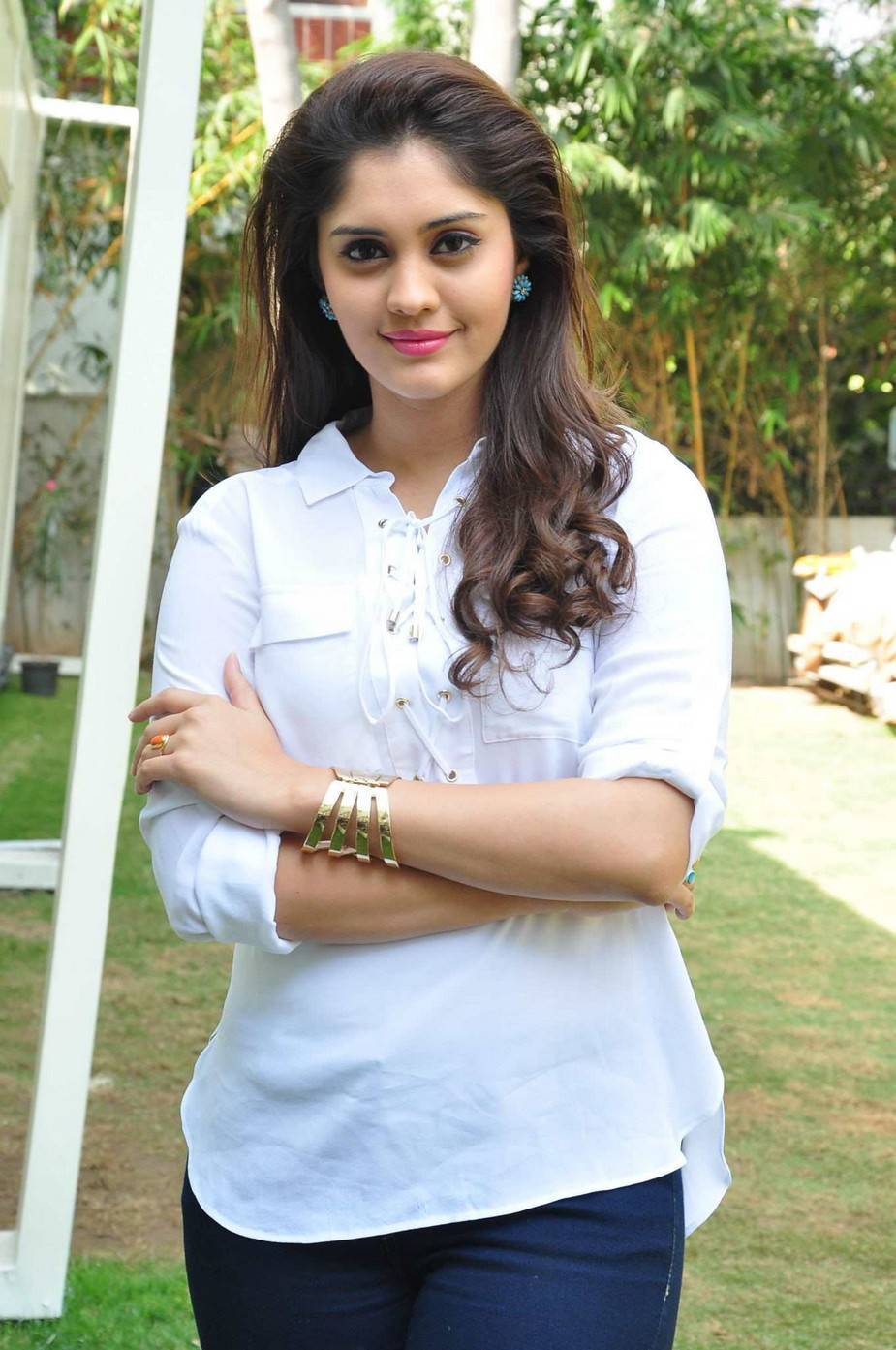 Surabhi Stills In White Shirt