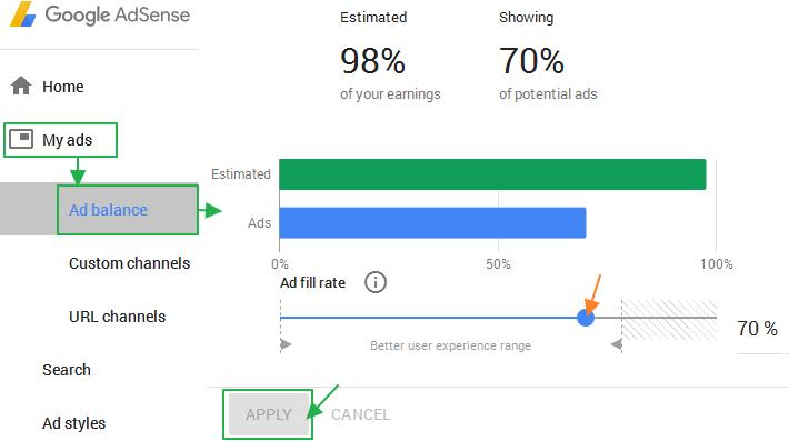 애드센스 광고 게재율 최적화 (Ad Balance) 수익 효과?