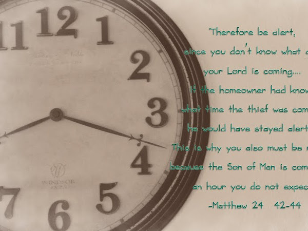 Scripture and a Snapshot-Matthew 24: 42-44