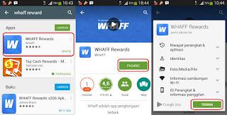 Whaff  Rewards,Aplikasi Android Penghasil Uang Dollar Terbaik,Termahal dan Terpercaya