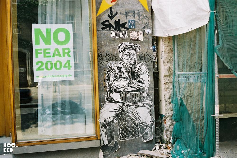 Berlin Street Art 2004 - New York street artist Swoon work