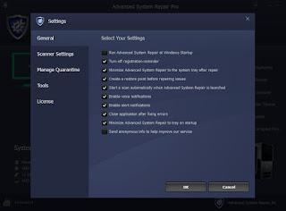 برنامج صيانه الويندوز و مسح الملفات الضارة : Advanced System Repair Pro 1.8