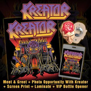 poster explicand ce primesti in pachetul VIP pentru concertele Kreator