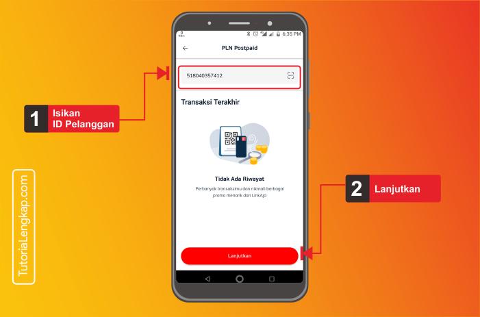 tutorialengkap 3 cara bayar listrik online melalui aplikasi LinkAja di android