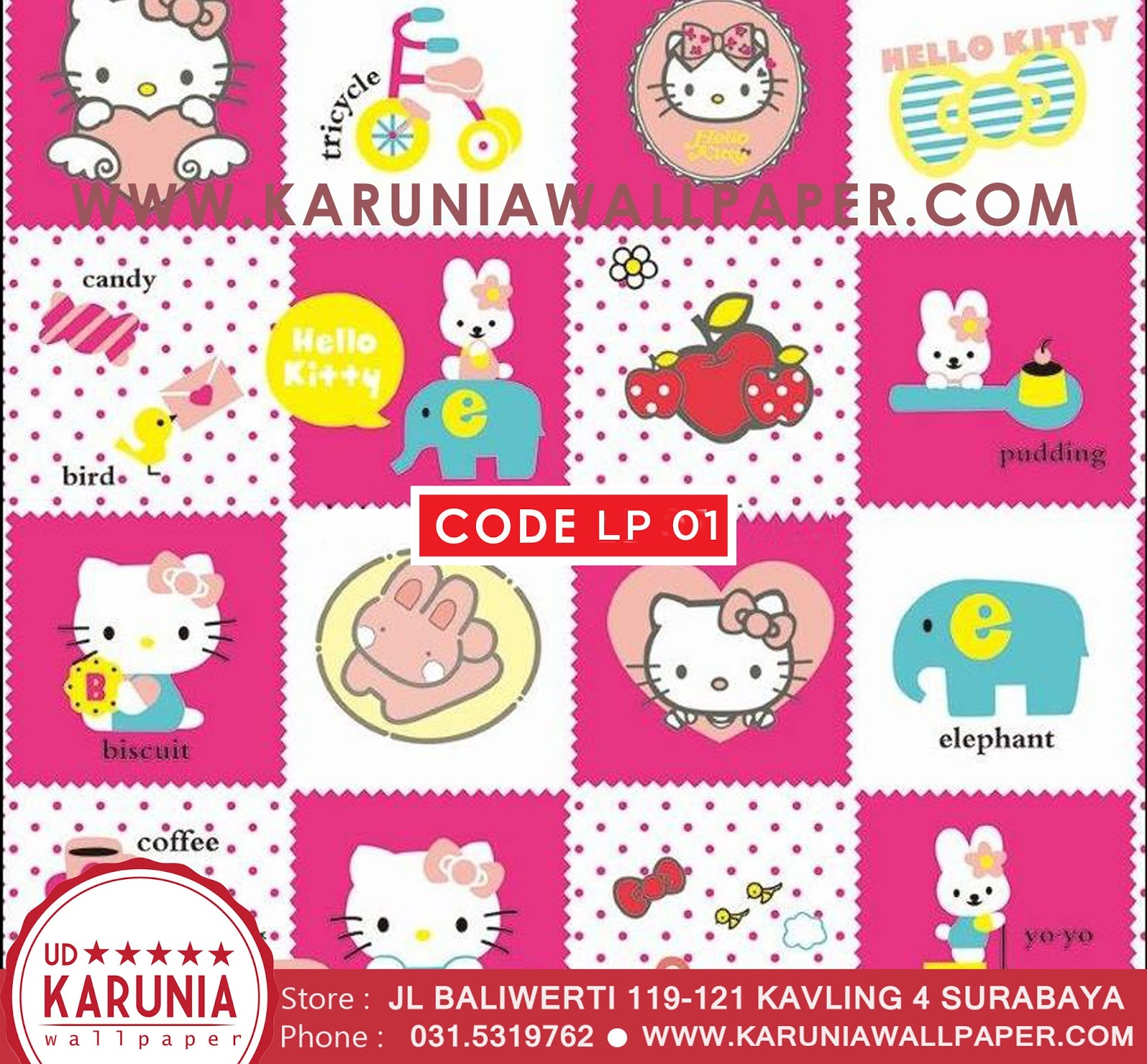 jual wallpaper hello kitty murah