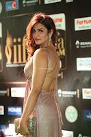 Telugu Actress Aarthi in Deep Neck Backless Golden Gown at IIFA Utsavam Awards 2017 Exclusive 03.JPG