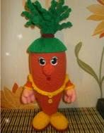 patron gratis zanahoria amigurumi