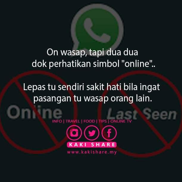 "On WhatsApp...Mesti Perhatikan Simbol ""Online & Last Seen...."