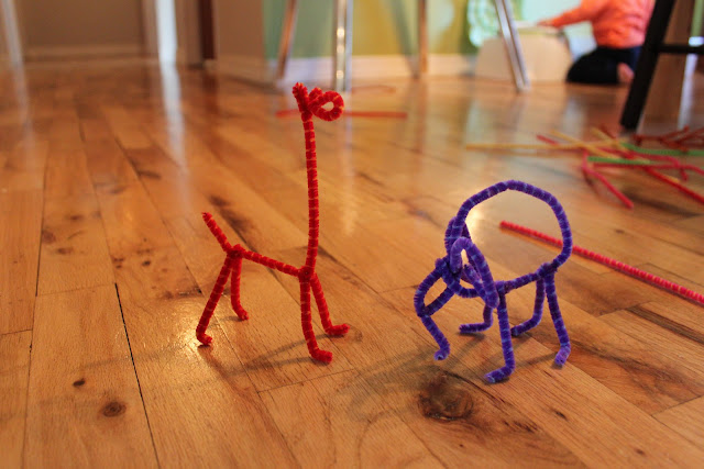 McCoyalicious Things we do after nap  Pipe cleaner madness