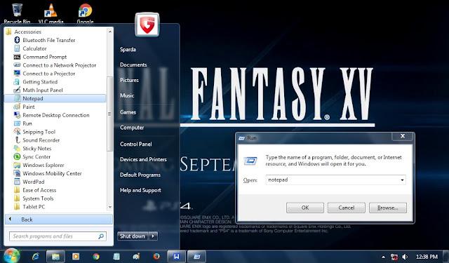 Cara  Menyembunyikan Folder Dengan Notepad