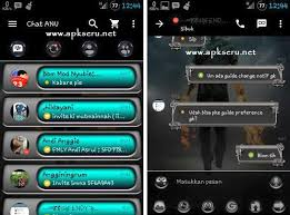 BBM Mod ANu Black Grey Metal V2.13.1.14 Apk Unclone