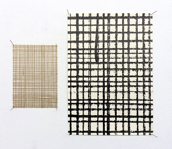 drawing Stephan van den Burg, Gold Grid/Cold Grits