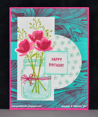 Stamp with Trude, Stampin' Up!, Jars of Love, Marble, Tuesday Tutorial, birthday, floral
