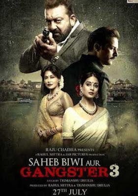 Saheb Biwi Aur Ganster 3 2018 Pre DVDRip 700Mb Full Hindi Movie Download