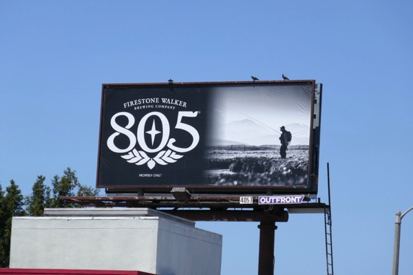Firestone Walker 805 beer fishing billboard