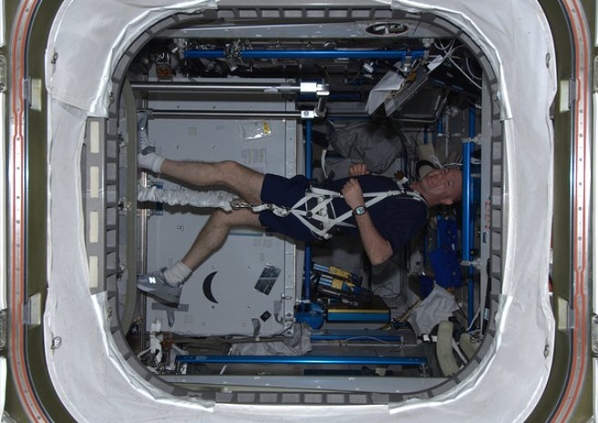 Suburban spaceman: Space Fit: ESA Astronaut on ISS Treadmill
