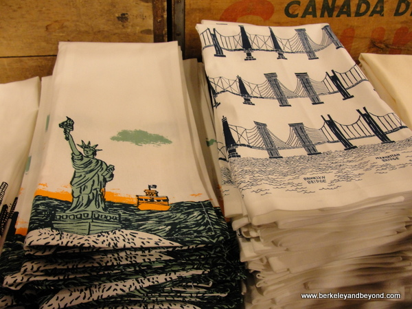 New York dish towels at Fishs Eddy shop in NYC