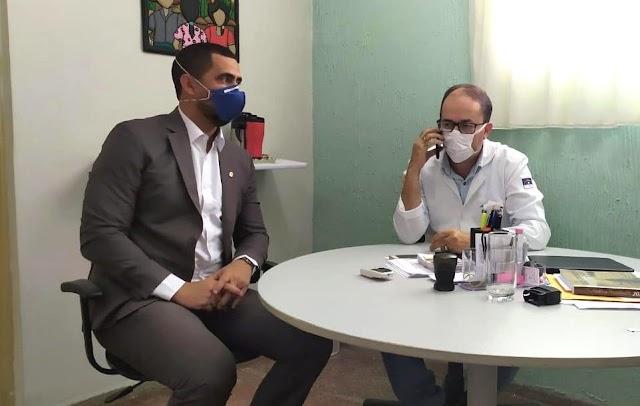 Robertinho articula garantia de repasse de emenda para o Hospital Regional de Limoeiro