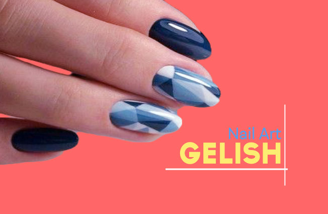 Gelish Nail Art With Interesting Impression