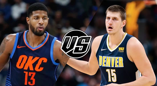 Live Streaming List: Oklahoma City Thunder vs Denver Nuggets 2018-2019 NBA Season