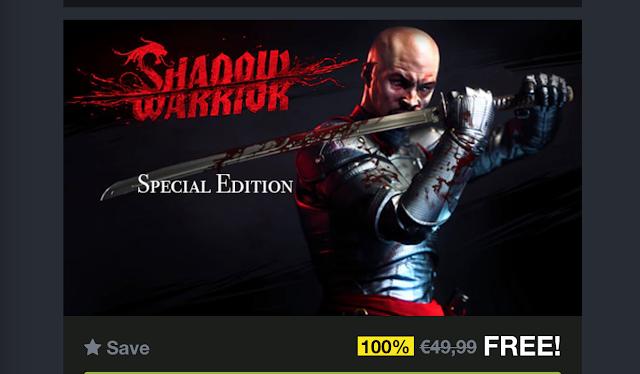 Shadow Warrior Special Edition gratis para PC (Steam)