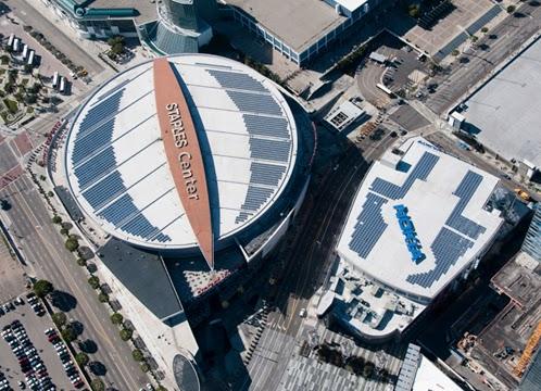 Staples Center Amp Nokia Theater Solar Roof