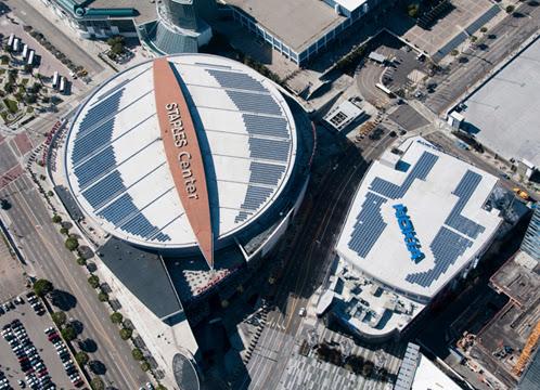 Solar Energy Data Staples Center Amp Nokia Theater Solar Roof