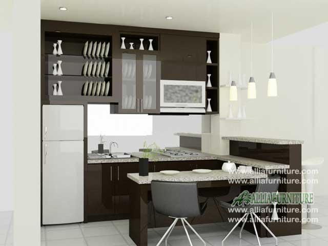 kitchen set meja bar minimalis coffe