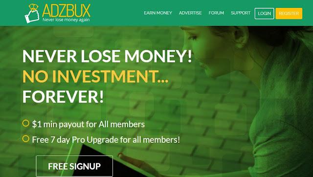 شرح موقع ADZBUX وكيفية ربح 1.5 دولار يومياً على الأقل بدون أى مجهود