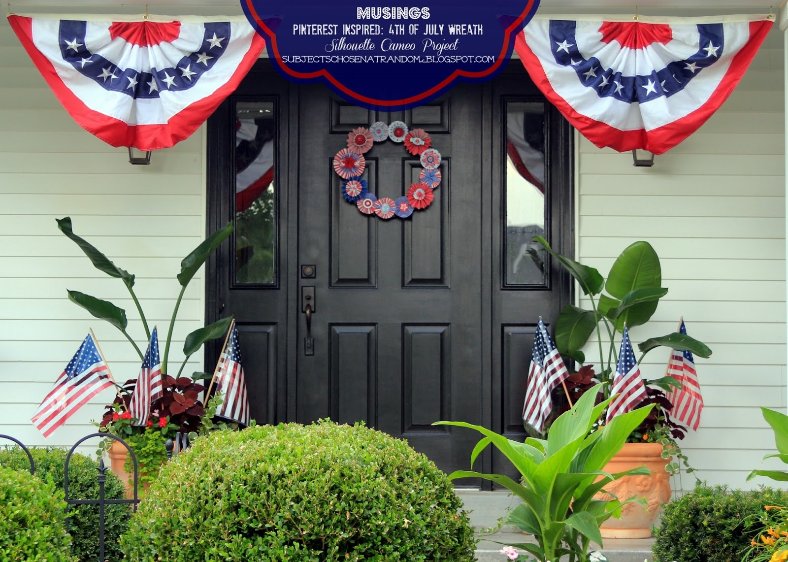 Musings Pinterest Inspired 4th Of July Wreath
